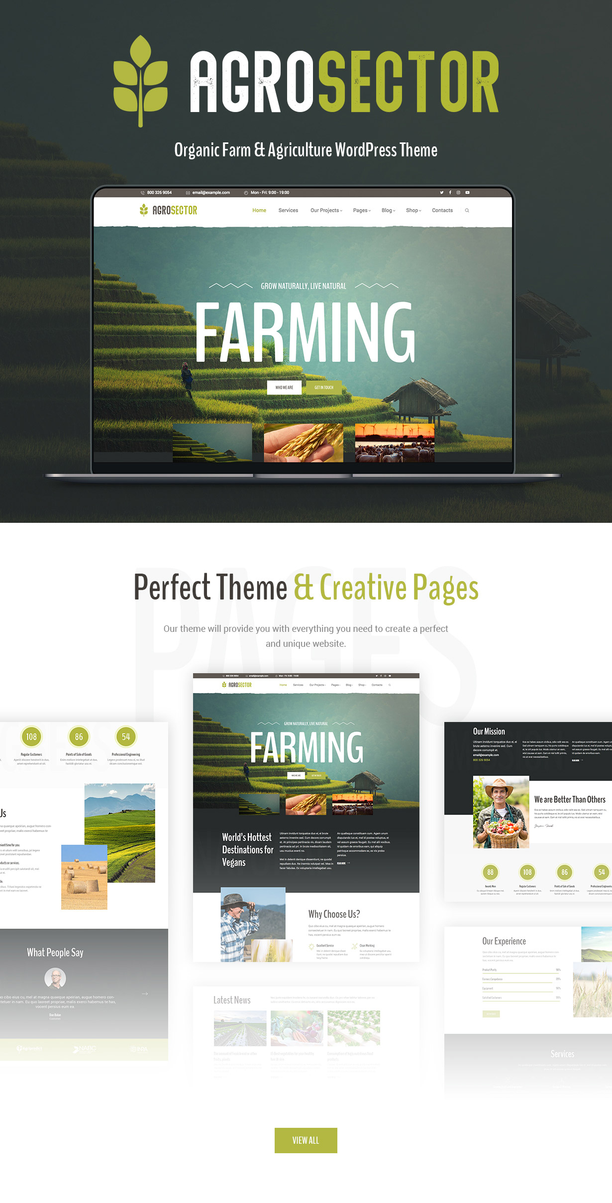 Agrosector – Agriculture & Organic Food Elementor WordPress Theme - 1