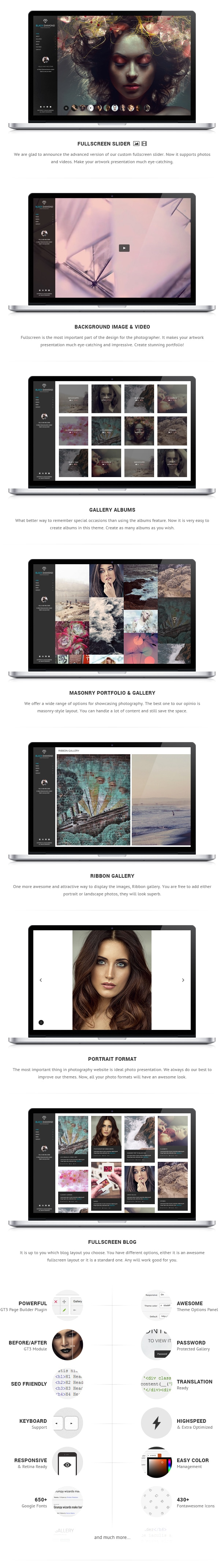 DIAMOND - Photography WordPress Theme - 1