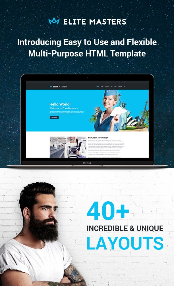 EliteMasters | Multi-Purpose Website Template - 2