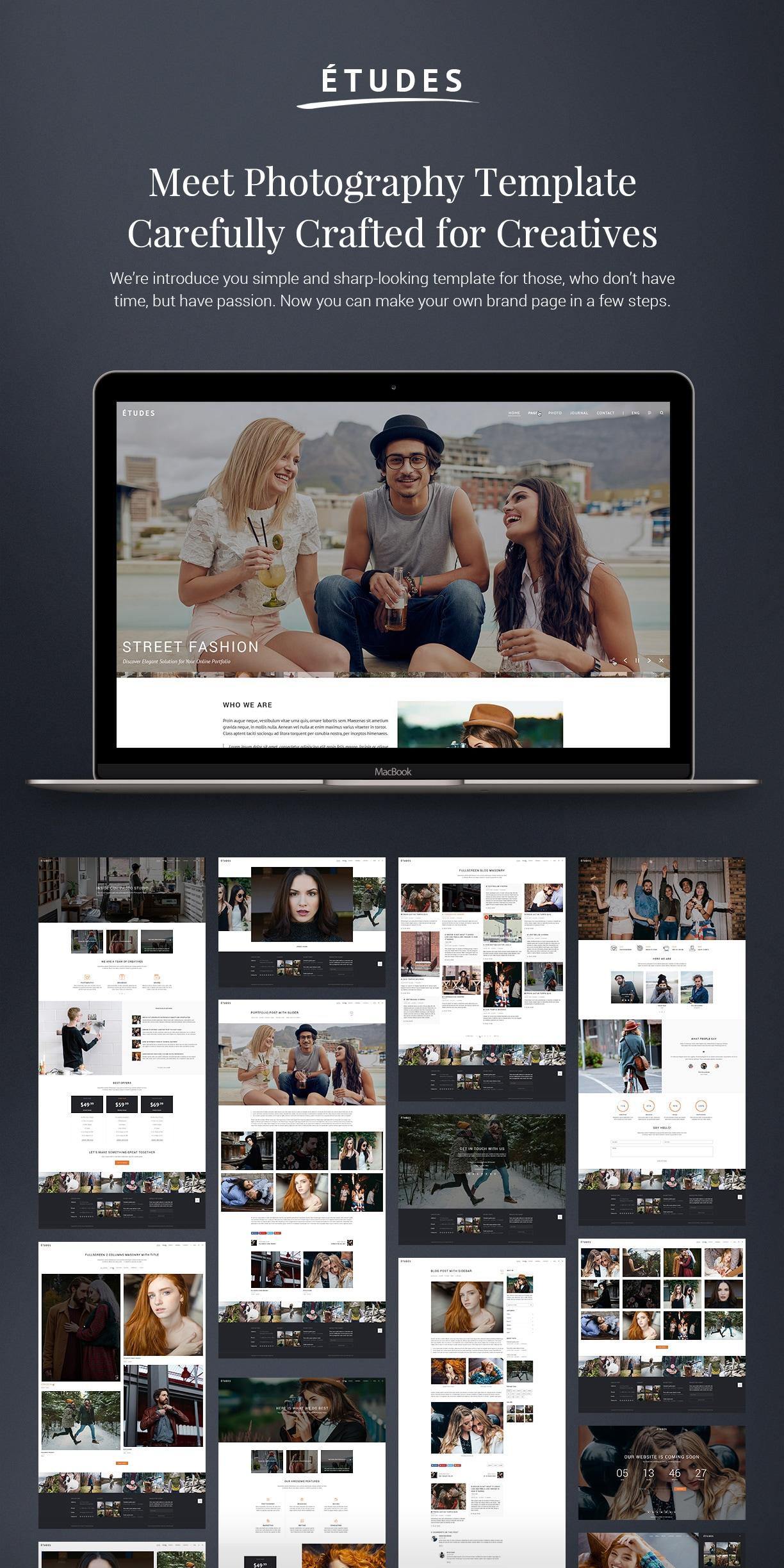 Premium Photo Template - Etudes - 1