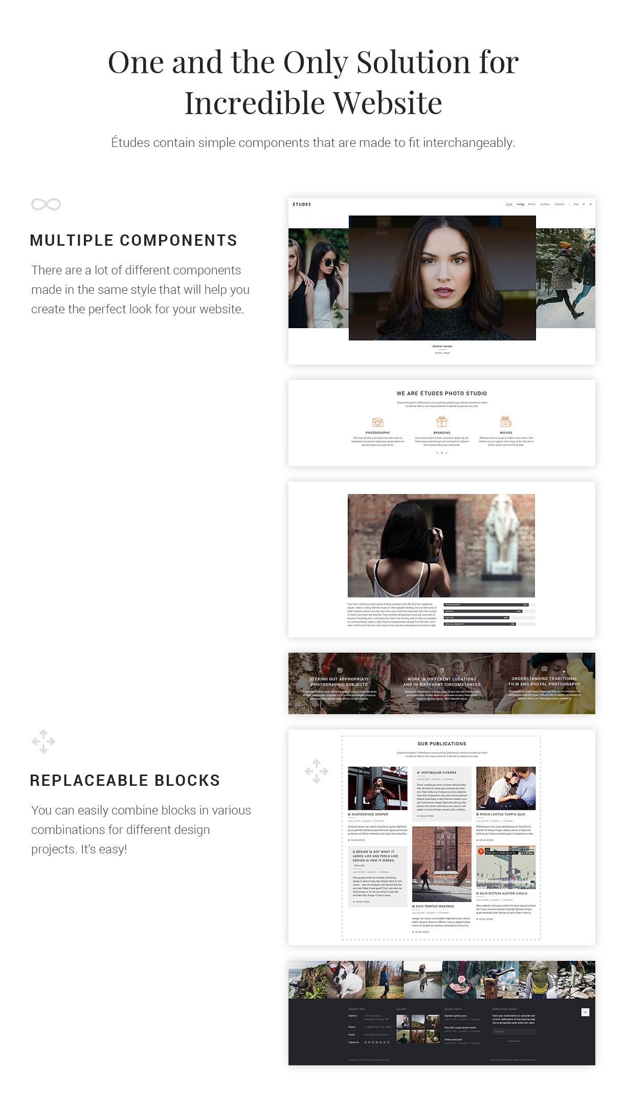 Premium Photo Template - Etudes - 2