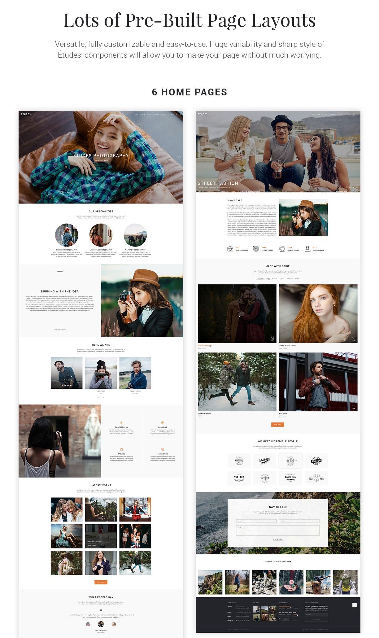 Premium Photo Template - Etudes - 3