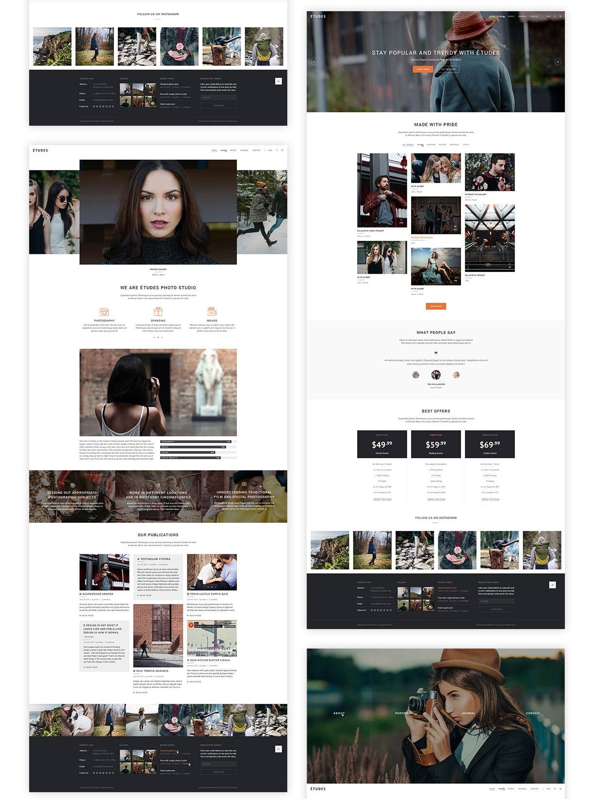 Premium Photo Template - Etudes - 4