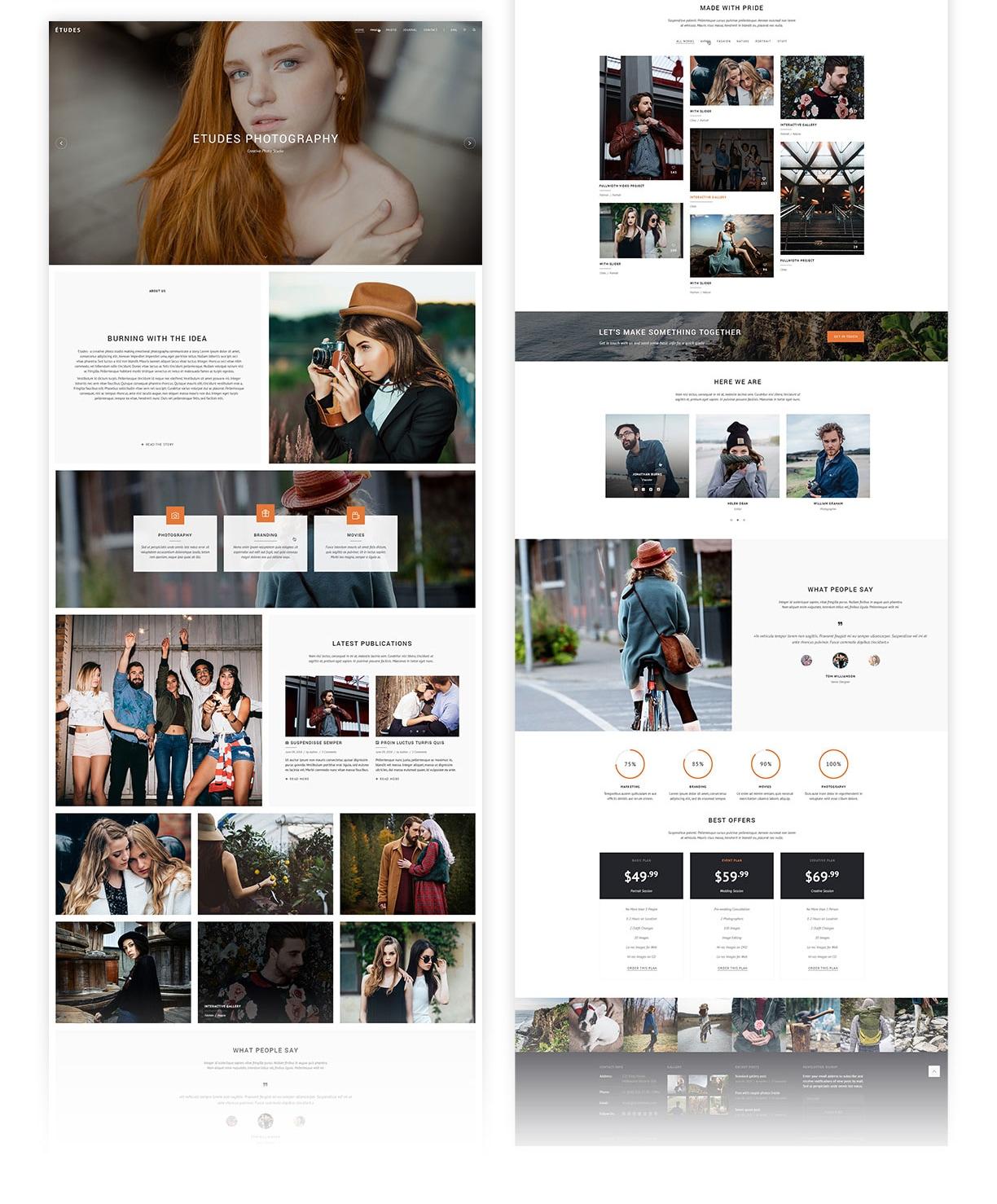Premium Photo Template - Etudes - 5