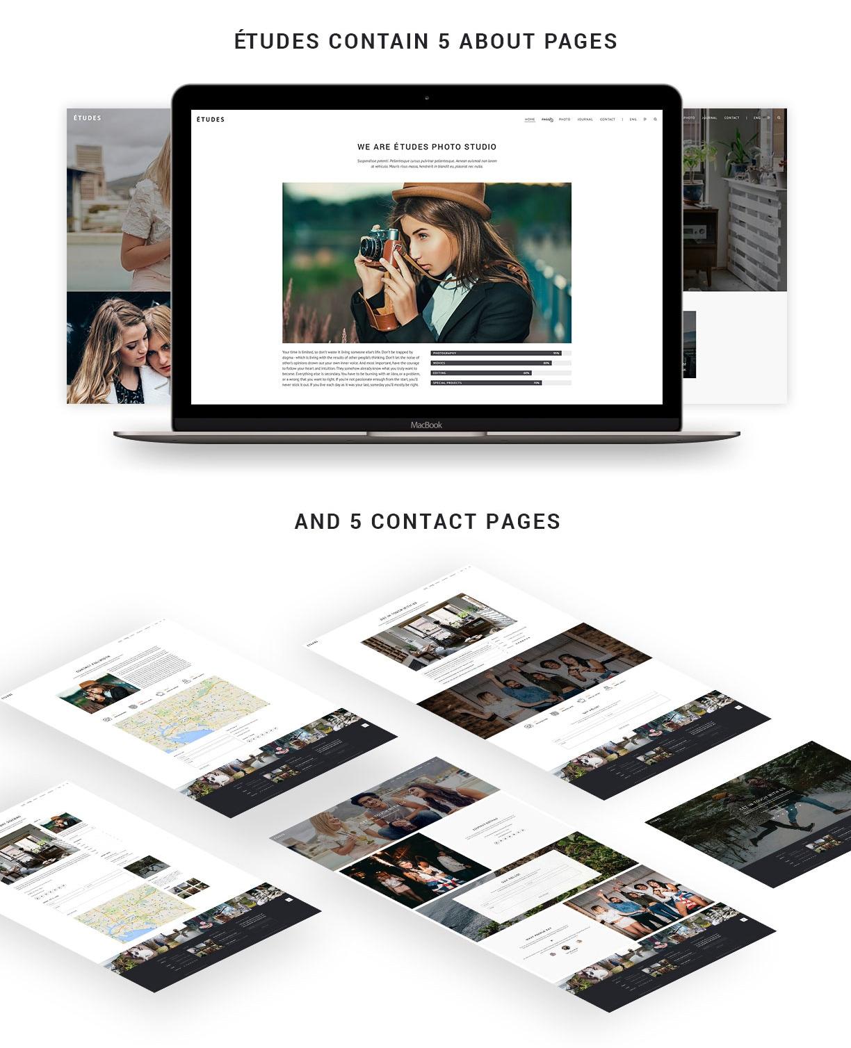 Premium Photo Template - Etudes - 6
