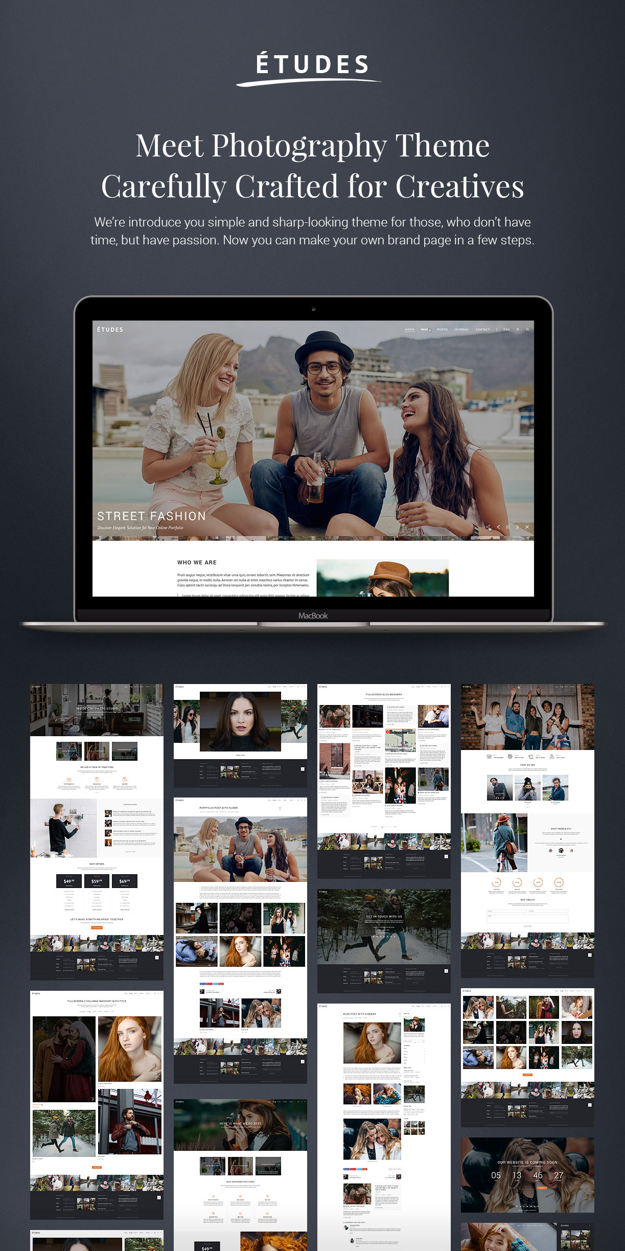 Premium Photography WordPress Theme - Etudes - 2