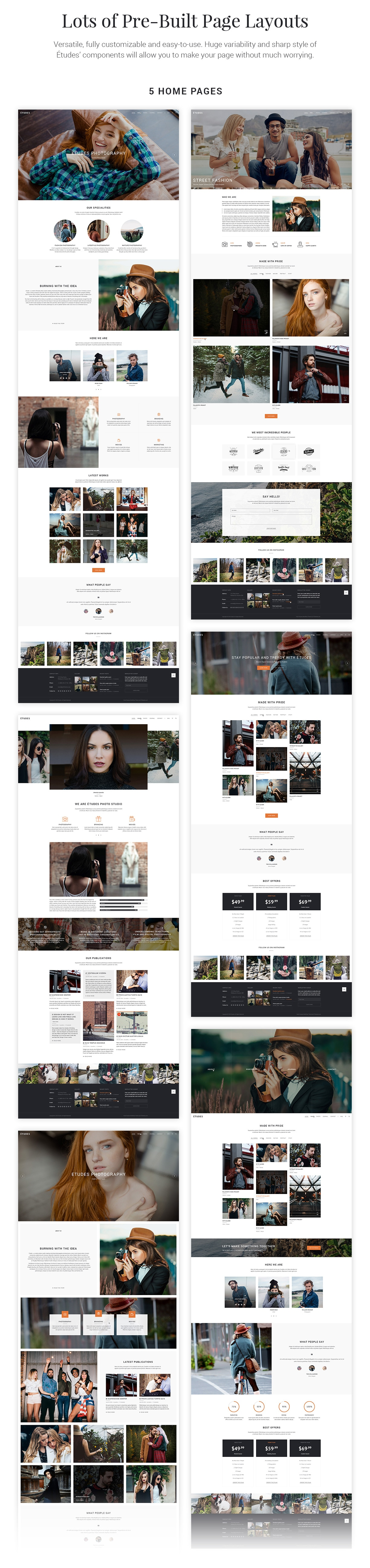 Premium Photography WordPress Theme - Etudes - 4
