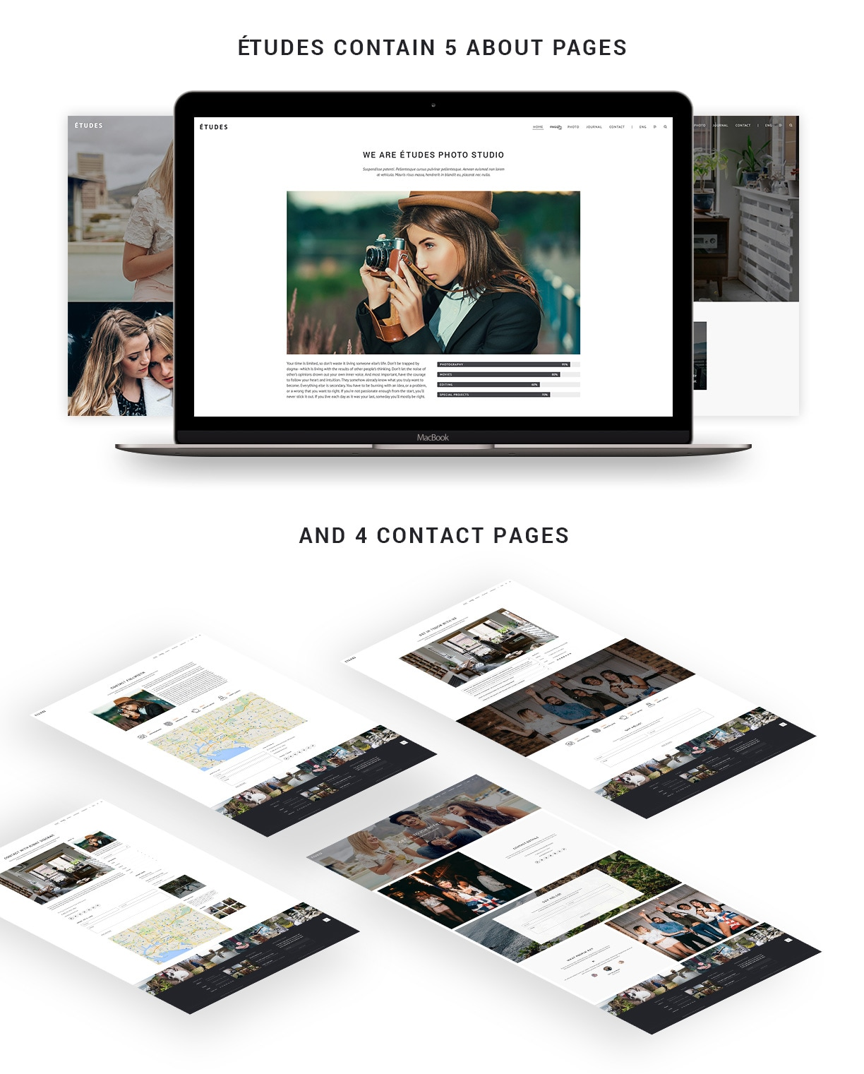 Premium Photography WordPress Theme - Etudes - 5