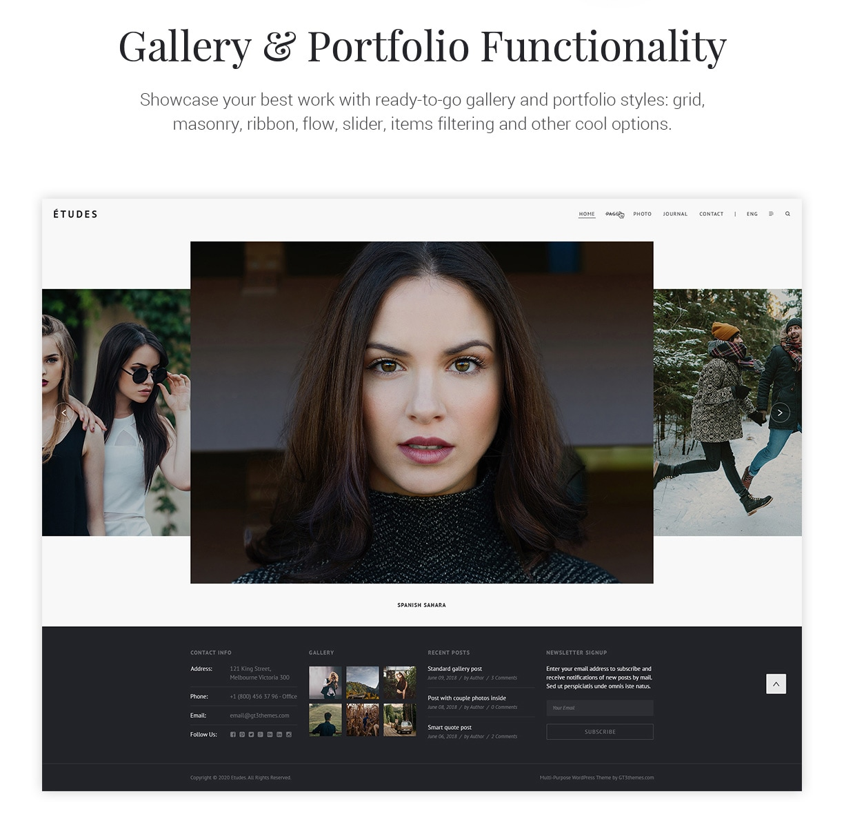 Premium Photography WordPress Theme - Etudes - 6