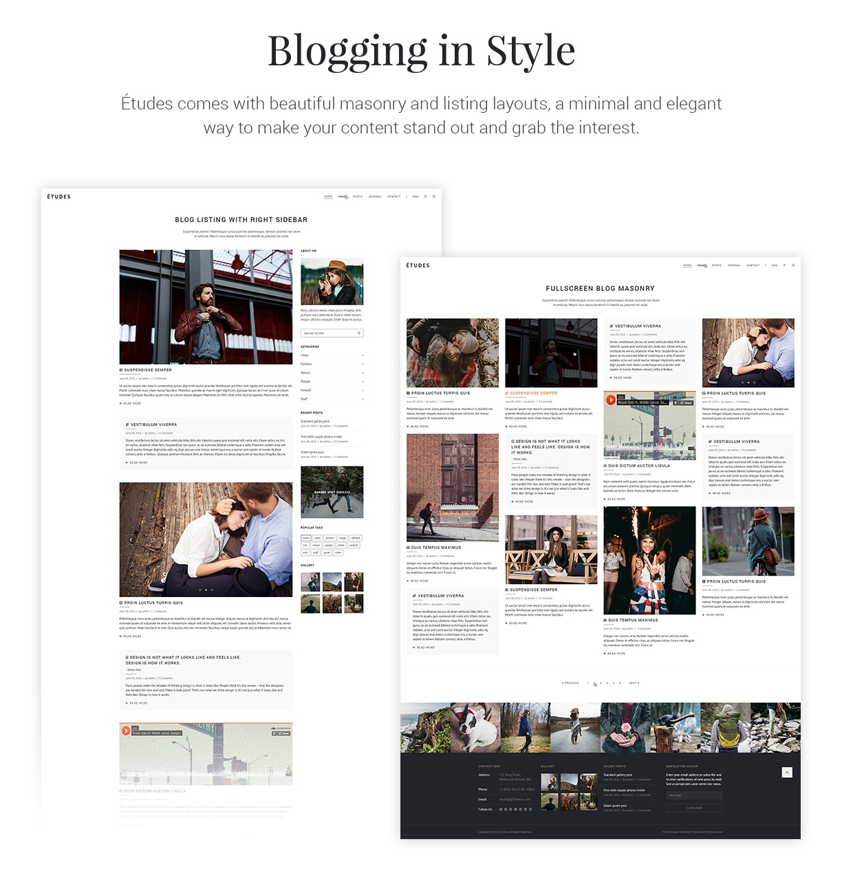Premium Photography WordPress Theme - Etudes - 7