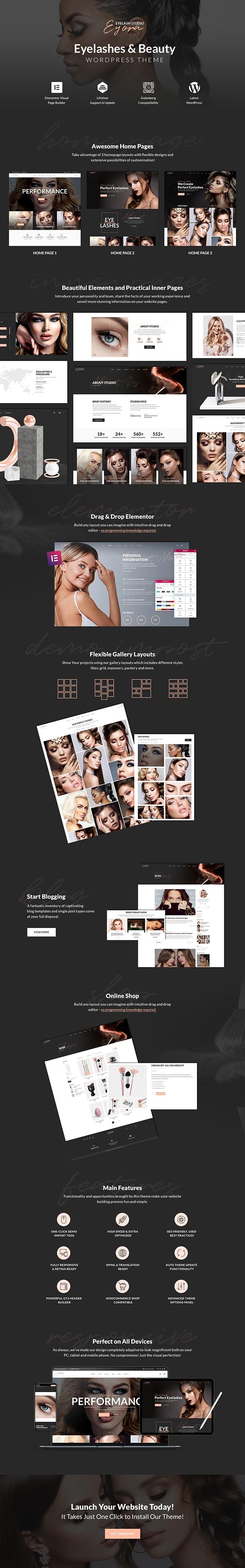 Eyora – Eyelash Extension WordPress Theme - 2