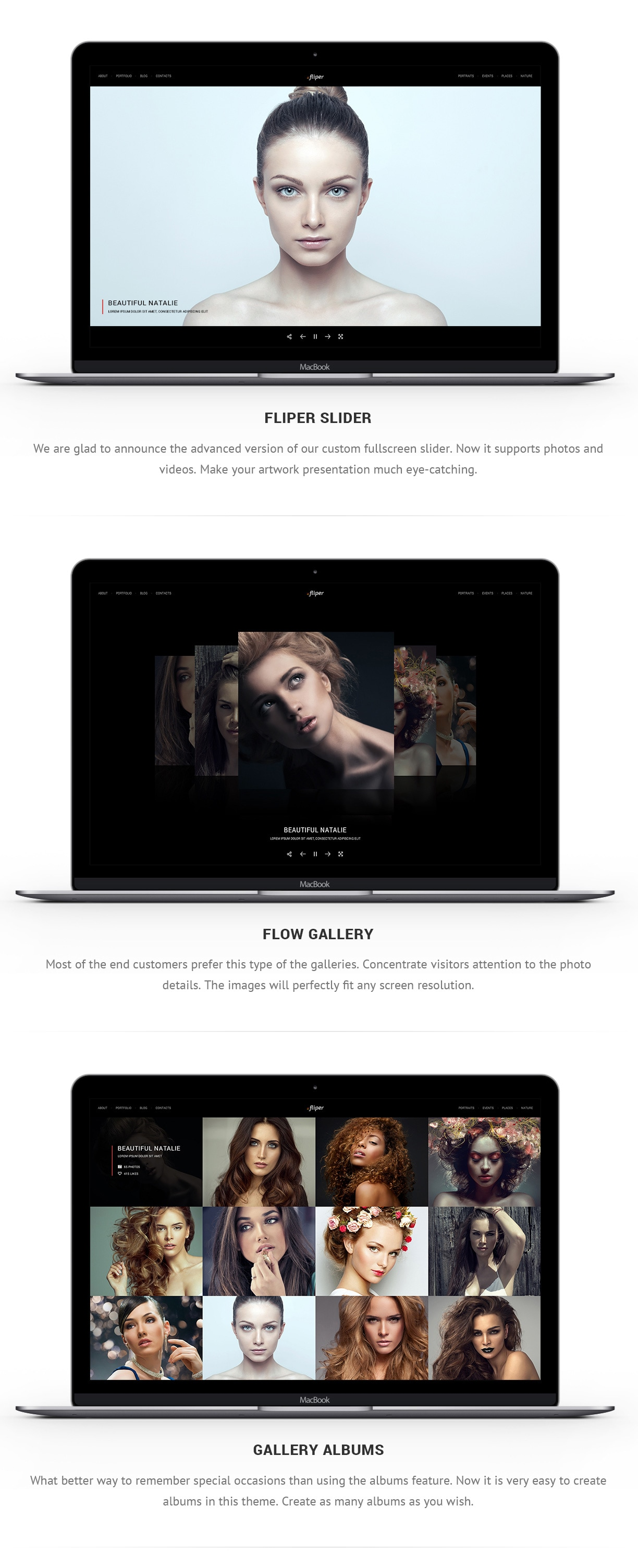 Photo Fullscreen Website Template - Fliper - 3