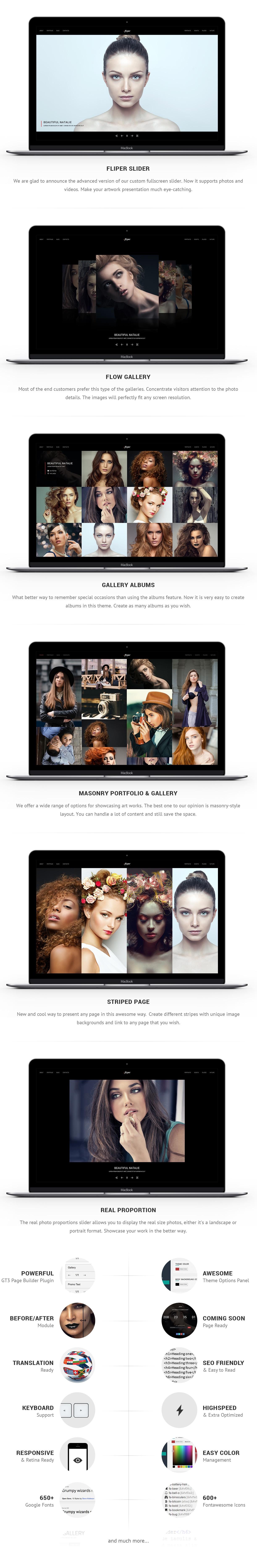 Photo Fullscreen WordPress Theme - Fliper - 1