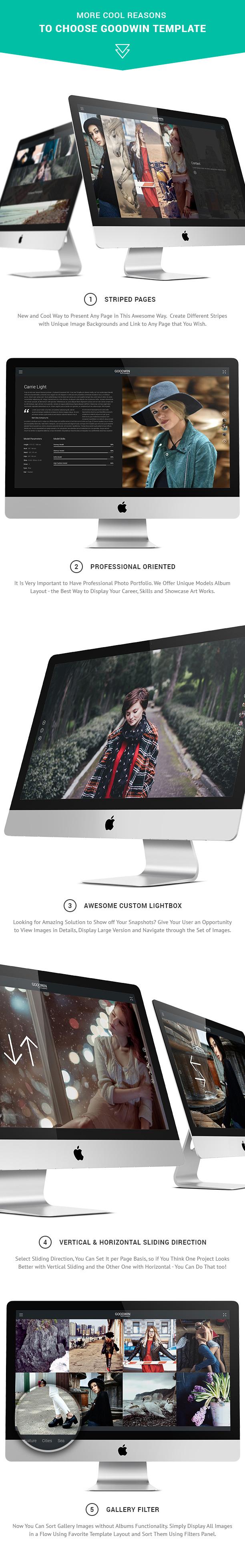 Photography Website Template - GoodWin - 3