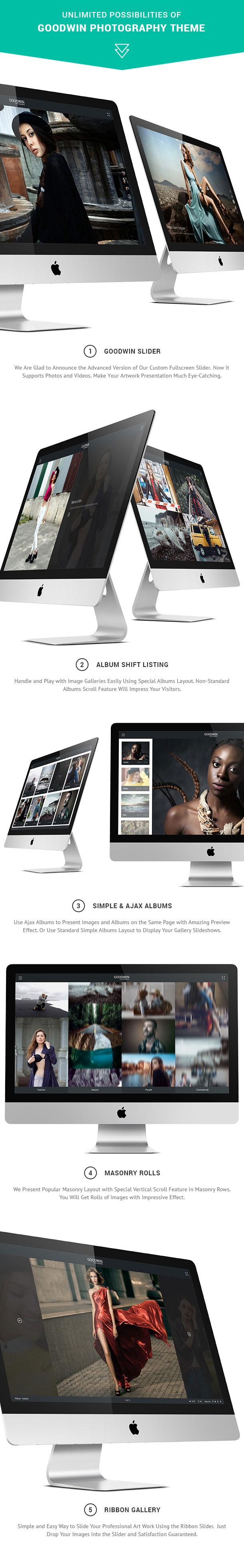 Photography & Video GoodWin WordPress Theme - 1