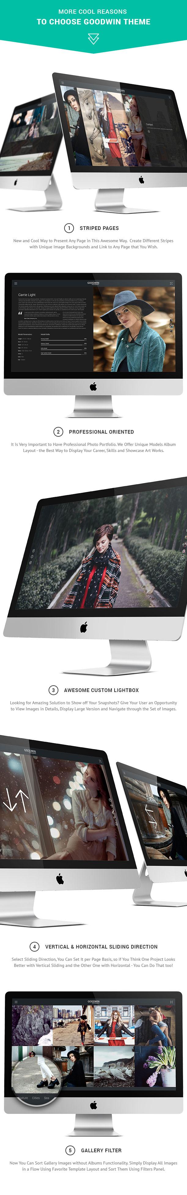 Photography & Video GoodWin WordPress Theme - 2