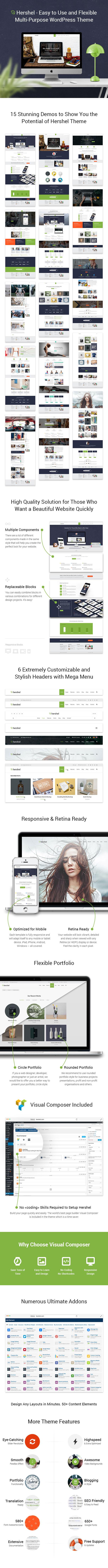 Hershel - Flexible Multipurpose WordPress Theme - 1