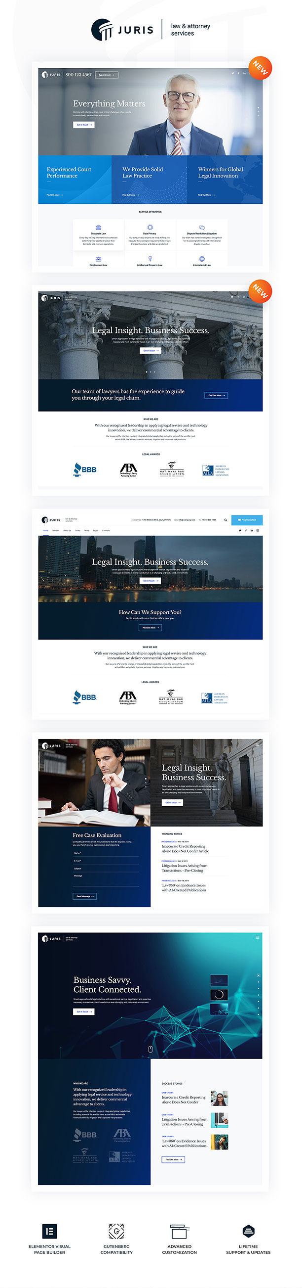Juris - Law Consulting Services WordPress Theme - 1