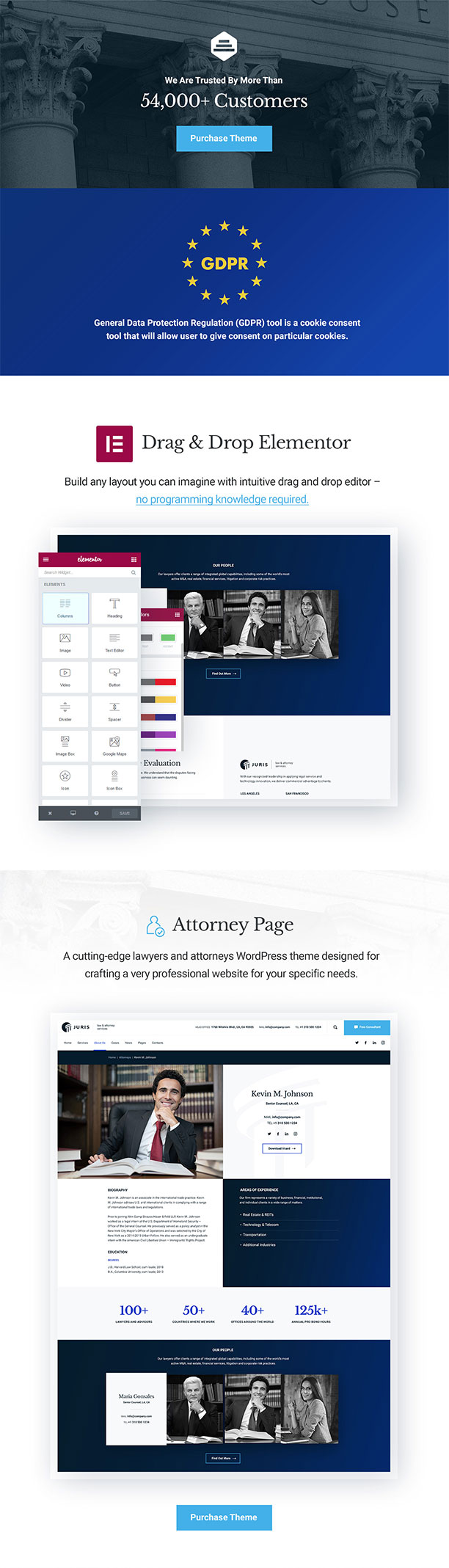 Juris - Law Consulting Services WordPress Theme - 2