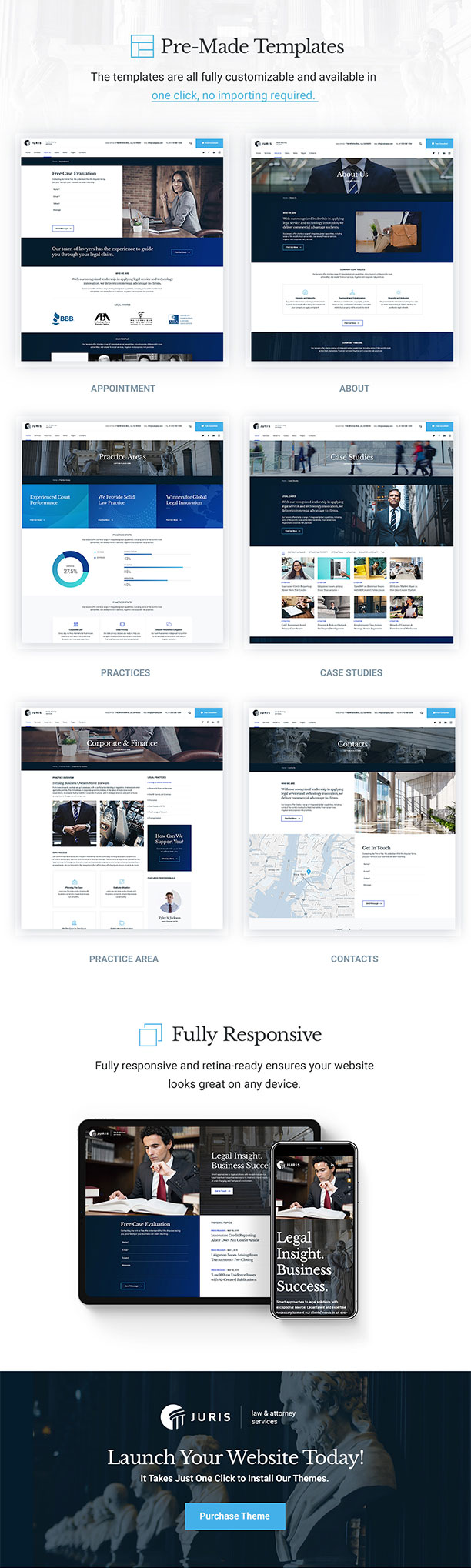 Juris - Law Consulting Services WordPress Theme - 3