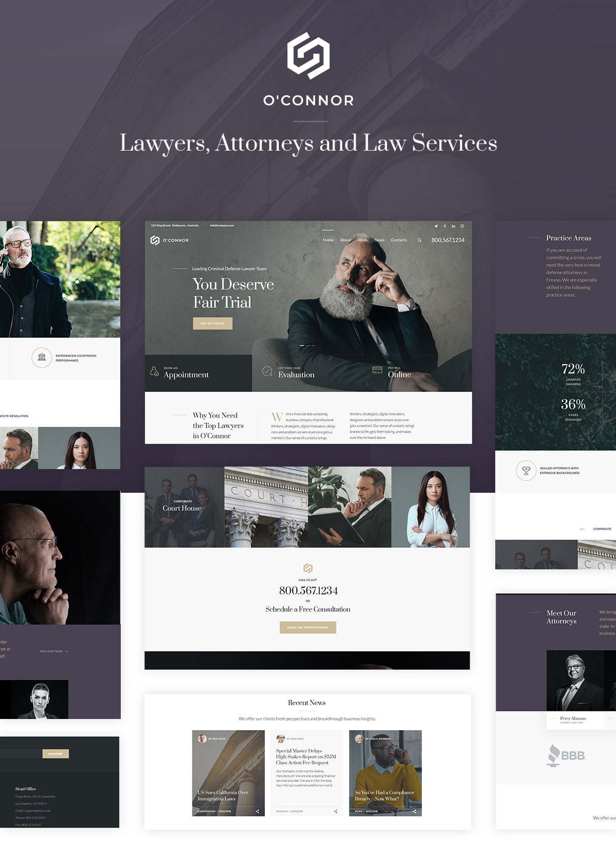 Oconnor - Lawyers and Law Firm HTML Template - 2
