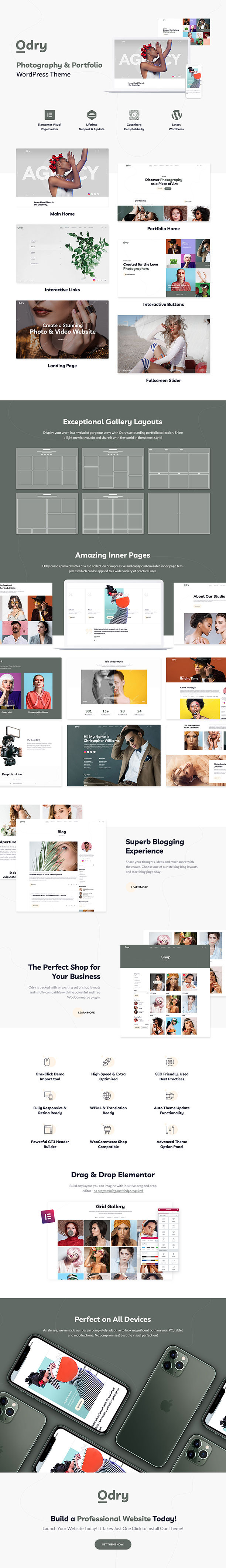 Odry - Photography Portfolio WordPress Theme - 2
