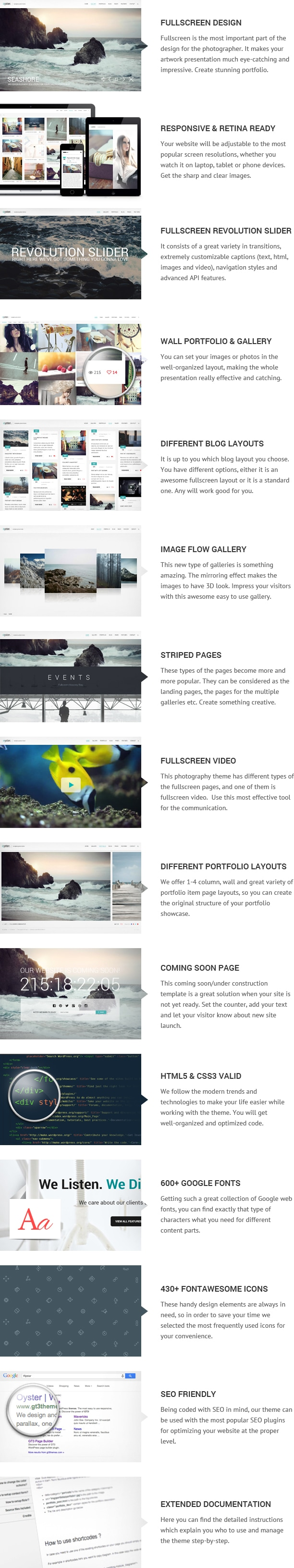 Oyster - Creative Photography HTML Template - 1