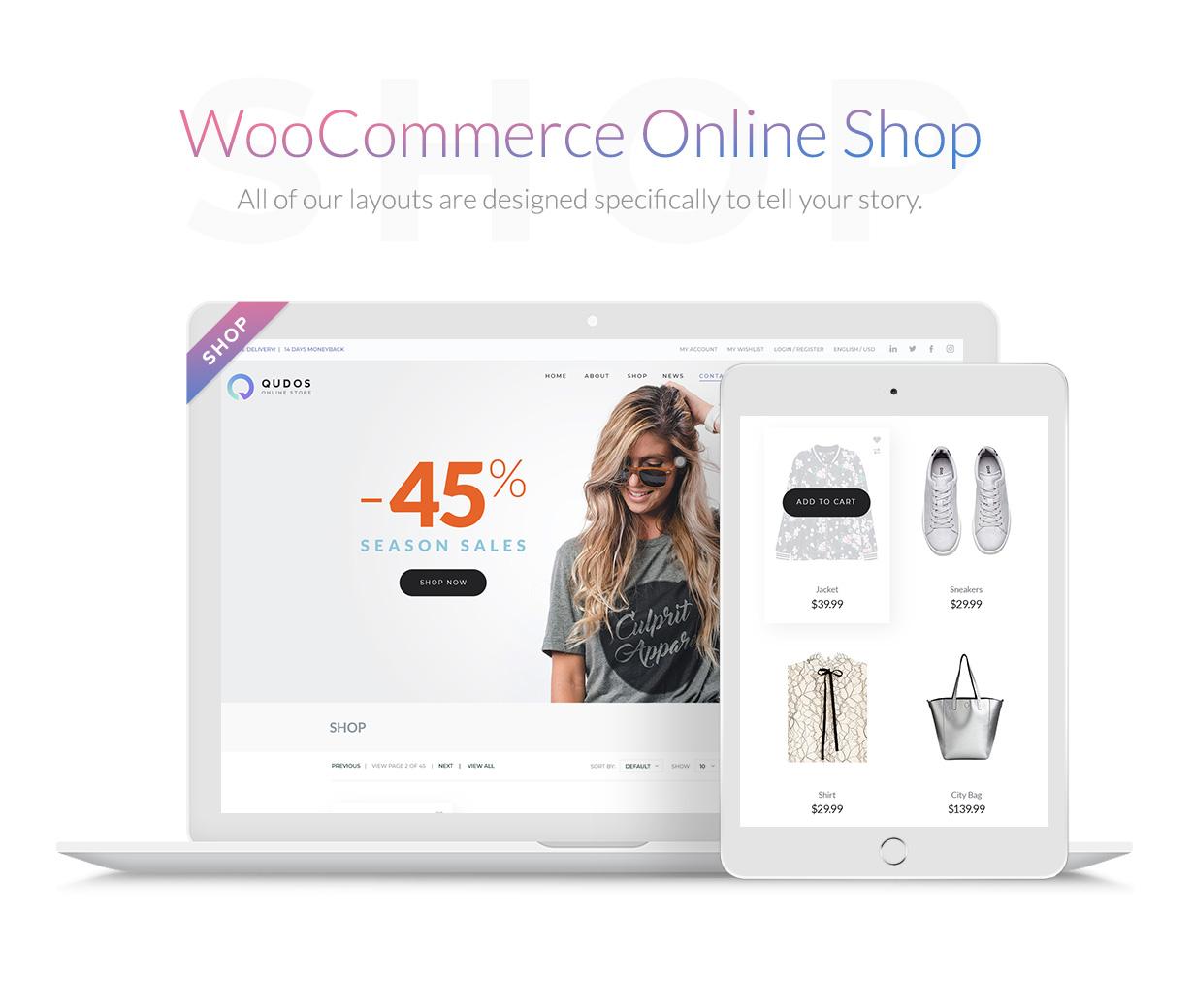 Qudos - Multi-Purpose Elementor WordPress Theme - 4