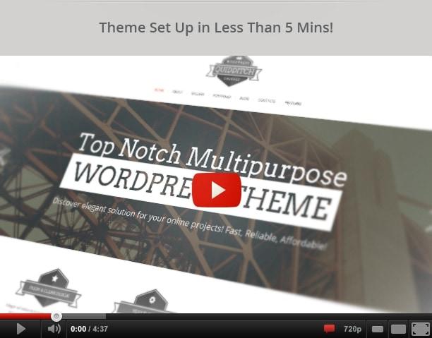 Quidditch - One Page WordPress Theme - 1
