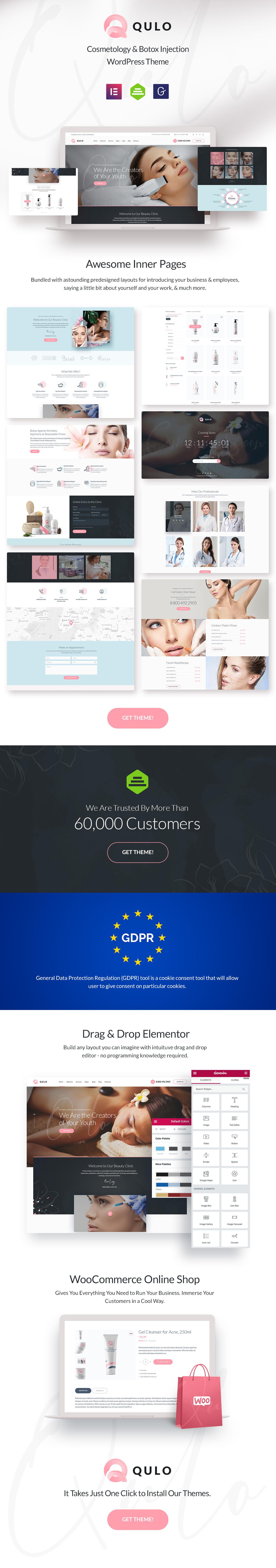 Qulo - Cosmetology and Botox Injection WordPress Theme - 1