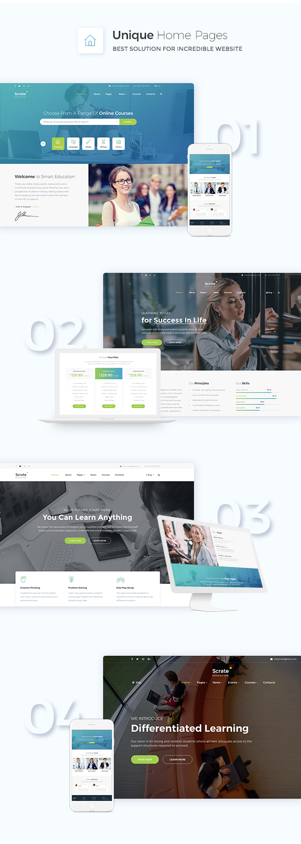 Scrate - WordPress Theme for Education and Teaching Online Courses - 3