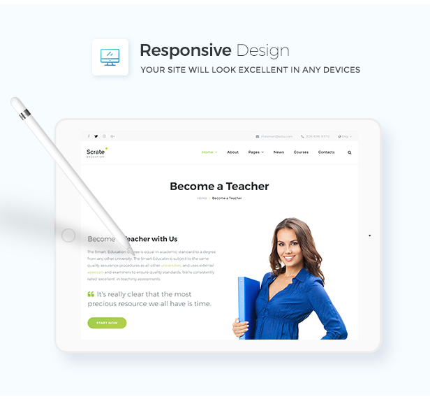 Scrate - WordPress Theme for Education and Teaching Online Courses - 9