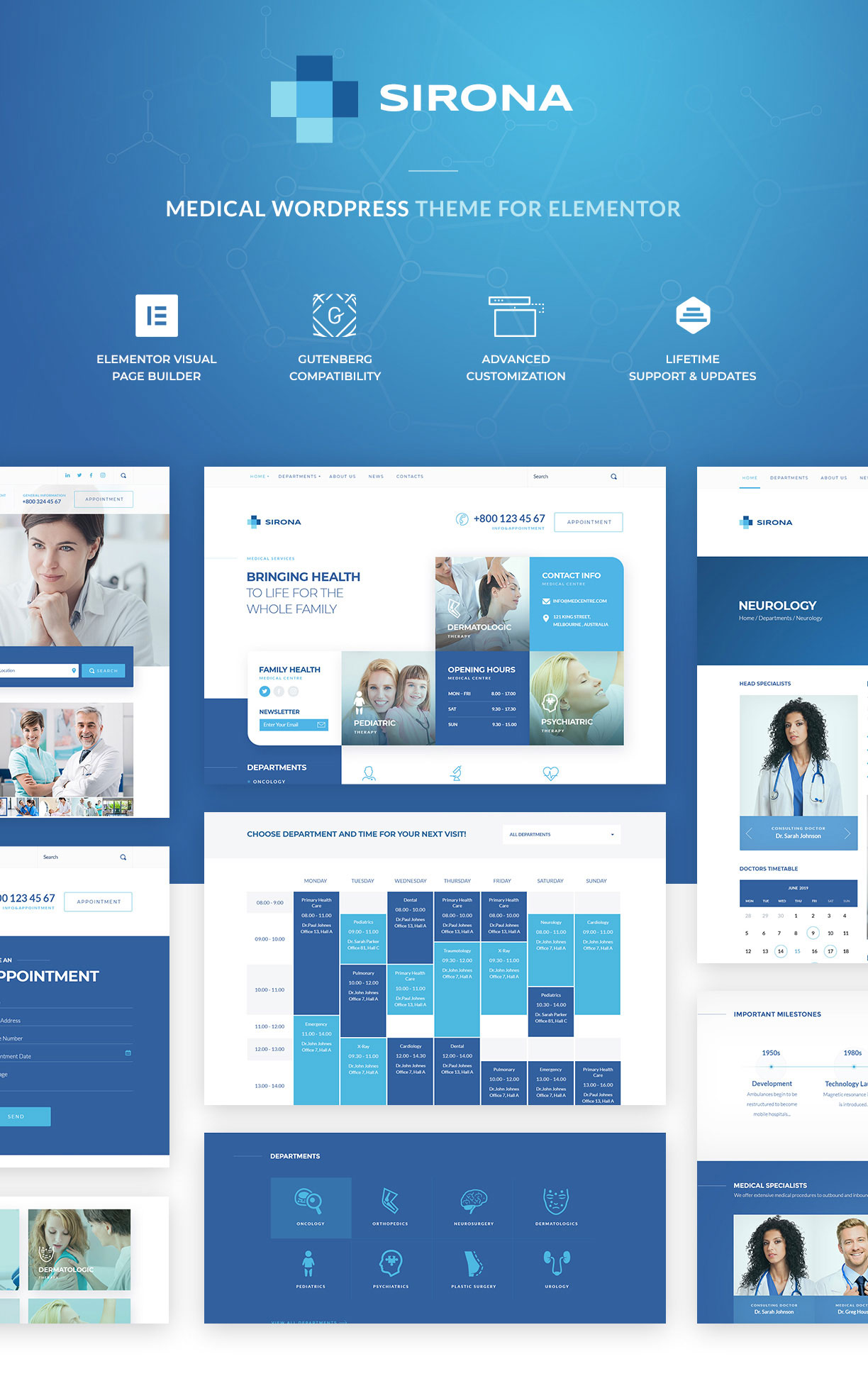 Sirona | Medical & Health WP Theme for Elementor - 1