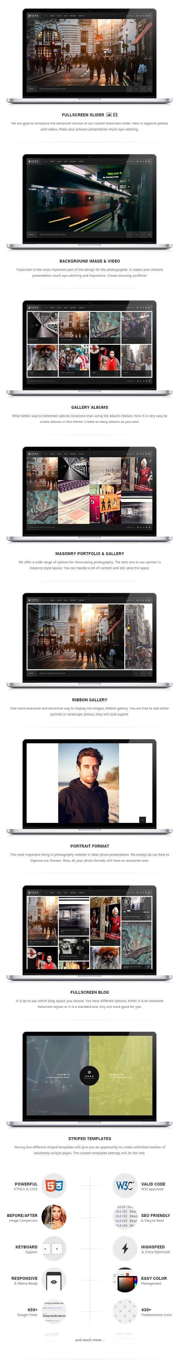 Soho - Fullscreen Photo & Video Web Template - 2