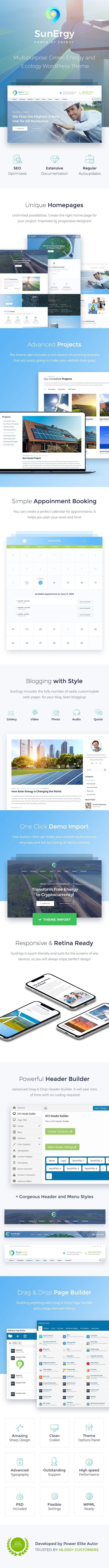 WordPress theme Sunergy - Multipurpose Green Energy and Ecology WordPress Theme (Technology)