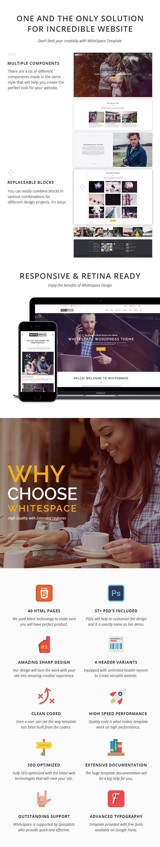 Portfolio HTML Template - WhiteSpace - 3