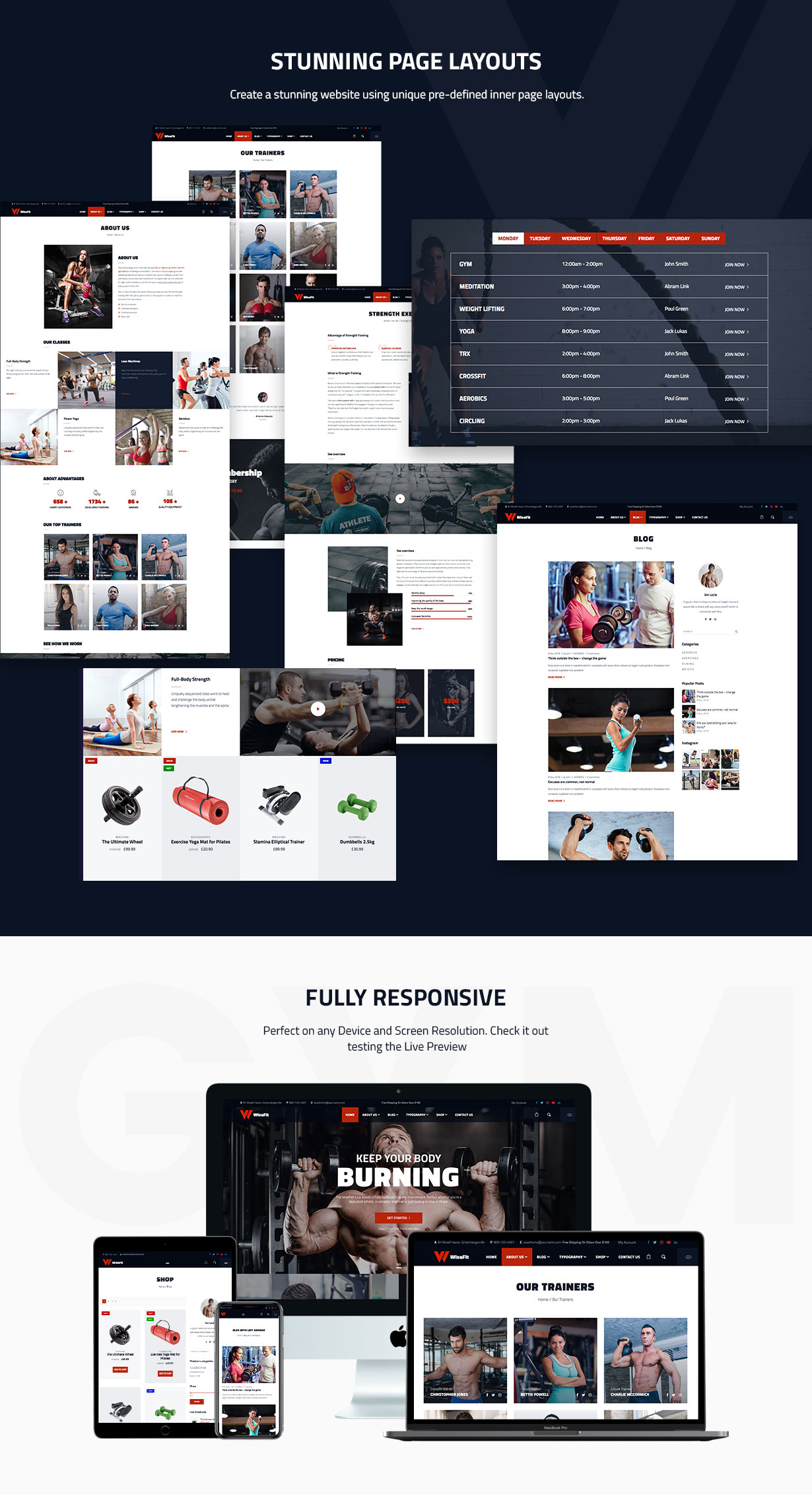 WizeFit – WordPress Theme for Gym & Fitness Clubs - 3