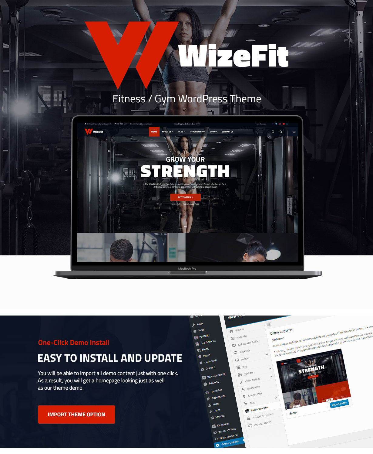 WizeFit – WordPress Theme for Gym & Fitness Clubs - 1