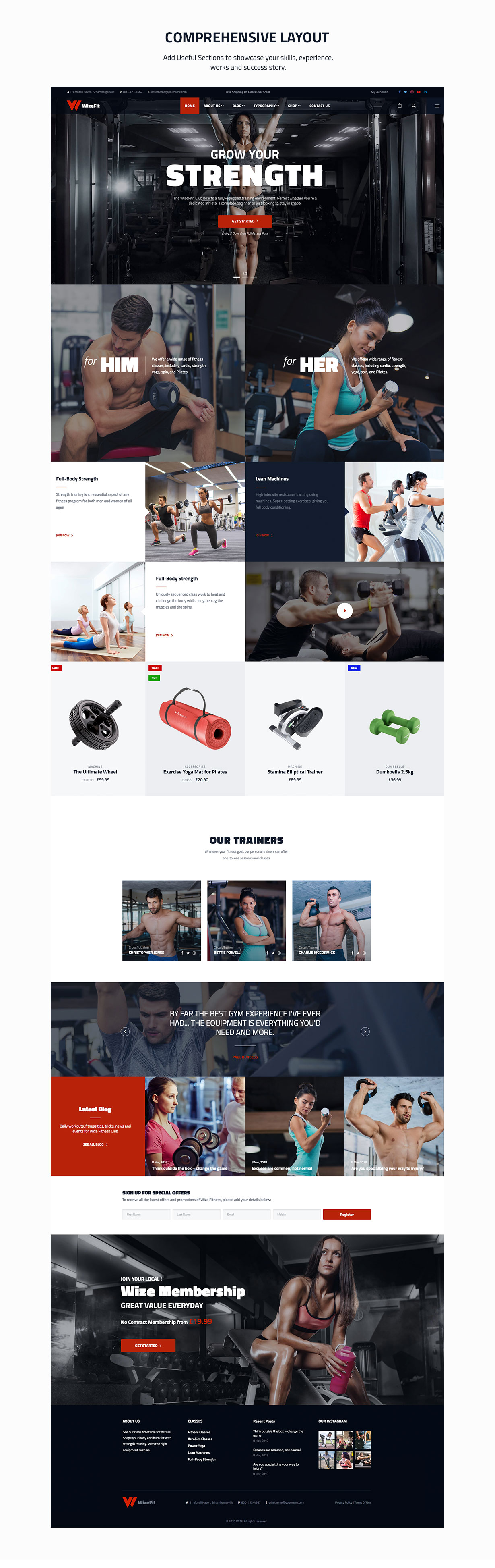 WizeFit – WordPress Theme for Gym & Fitness Clubs - 2
