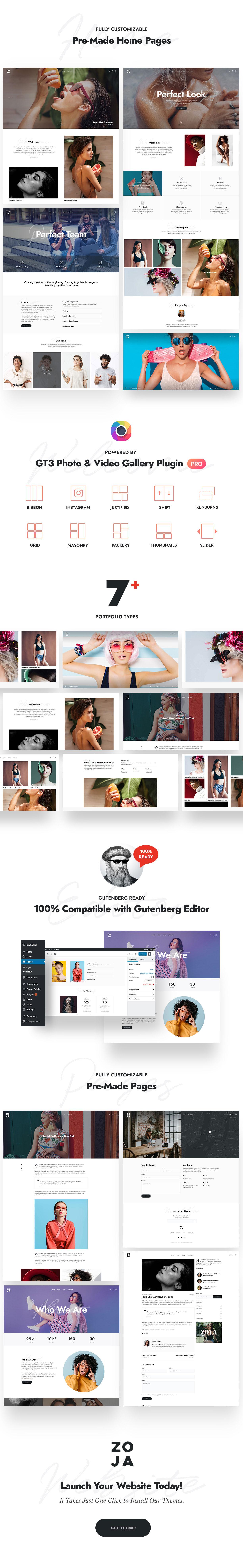 Zoya - Photography WordPress Theme - 1