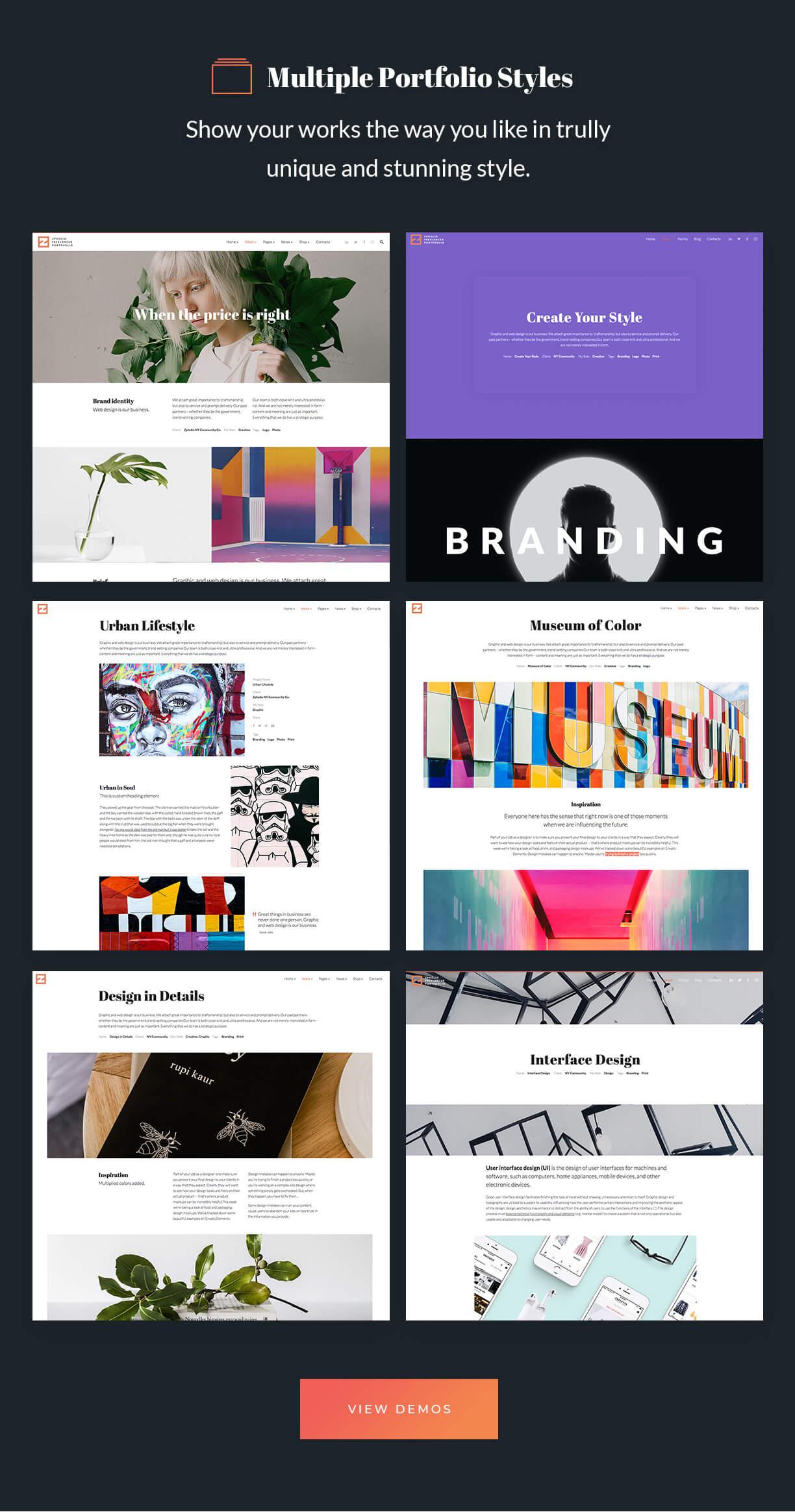 Elementor Creative Portfolio WordPress Theme - Zpholio - 4