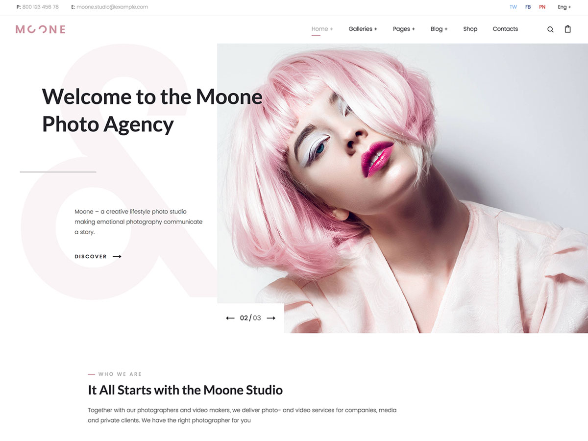 Moone – Photography Portfolio WordPress Theme