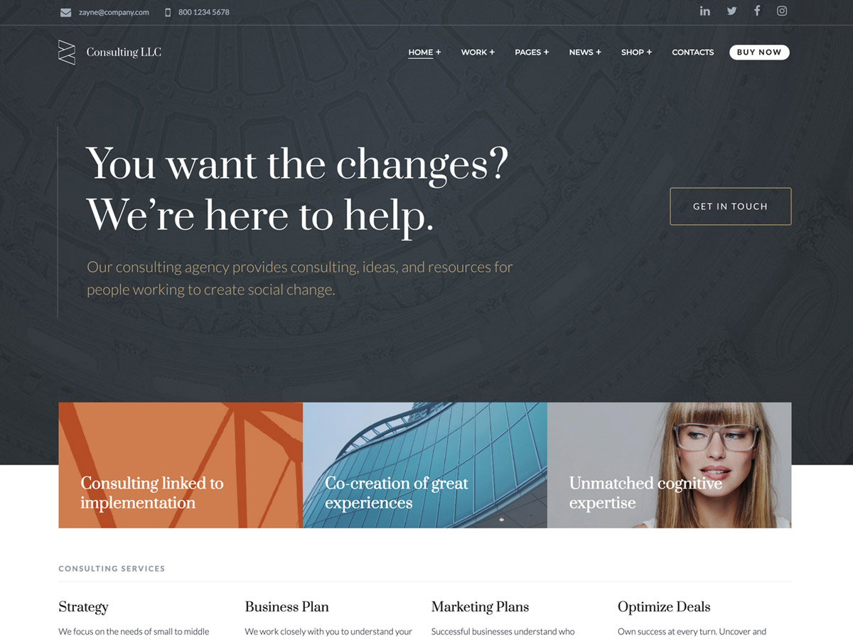Zayne – Corporate Business Elementor WordPress Theme