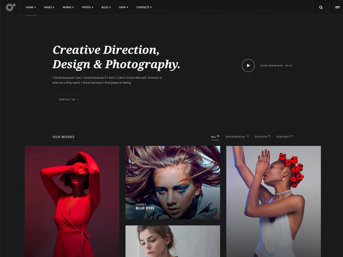 Oni – Creative Photography Elementor WordPress Theme