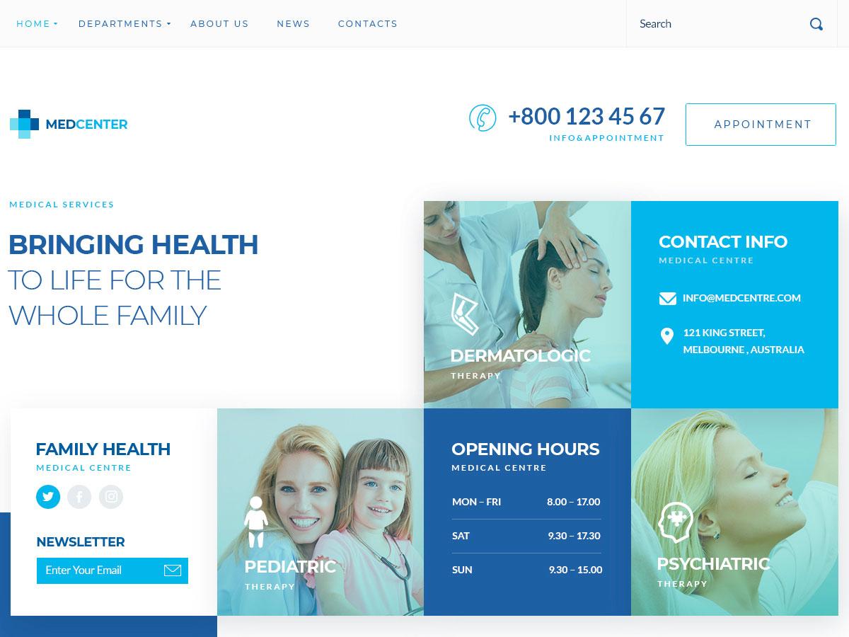 Sirona – Medical & Health Elementor WordPress Theme