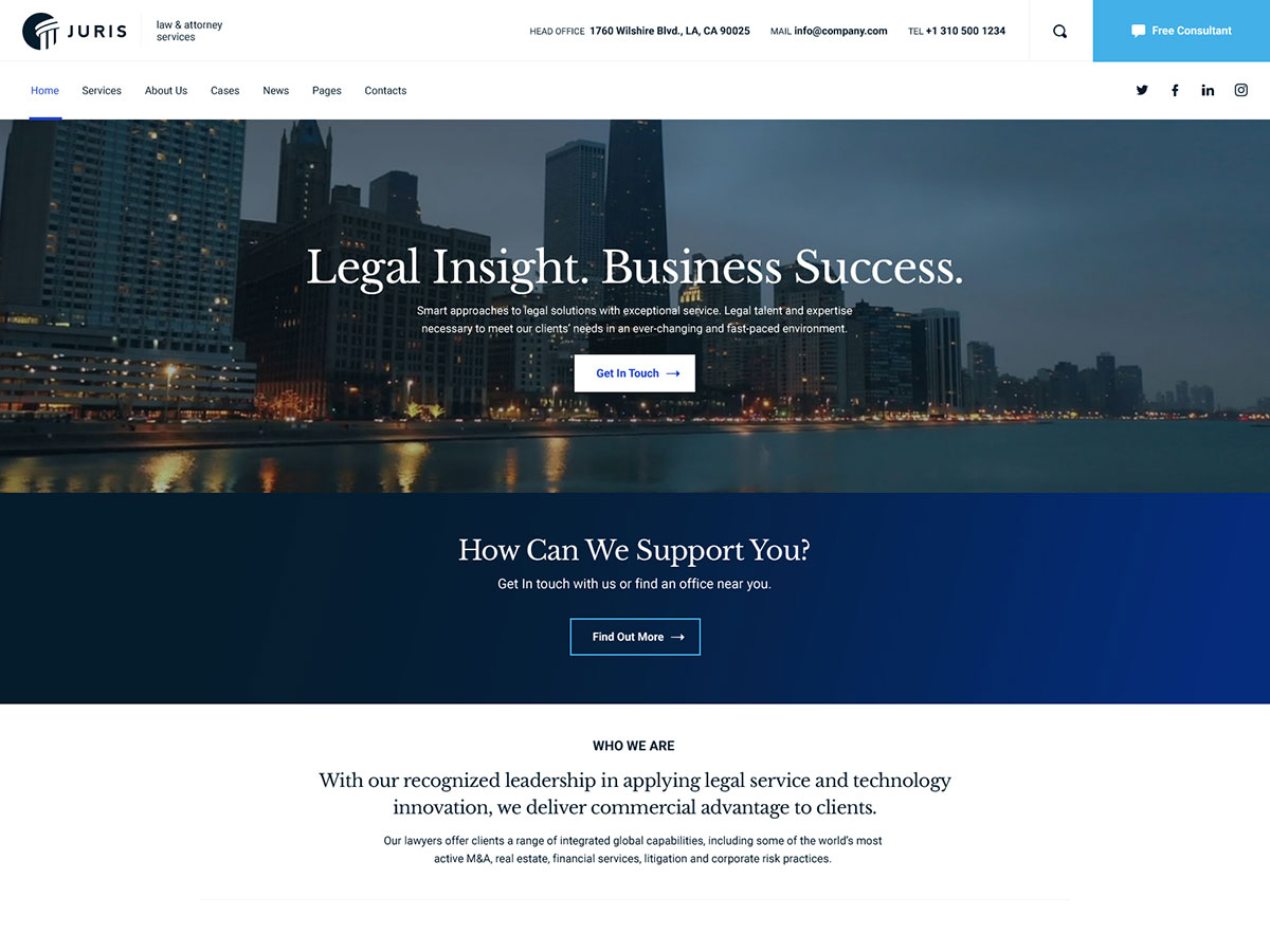 Juris – Law Consulting Services WordPress Theme