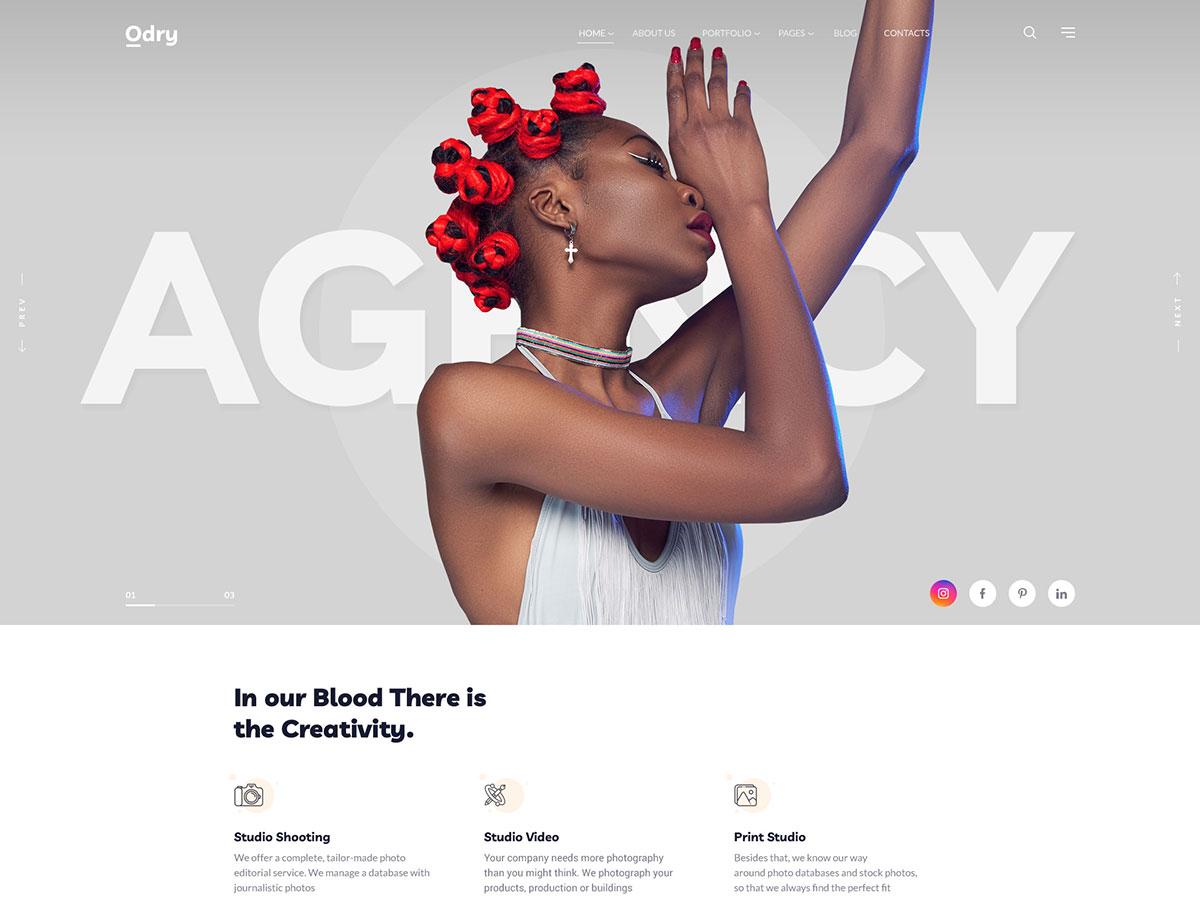 Odry – Photography Elementor WordPress Theme