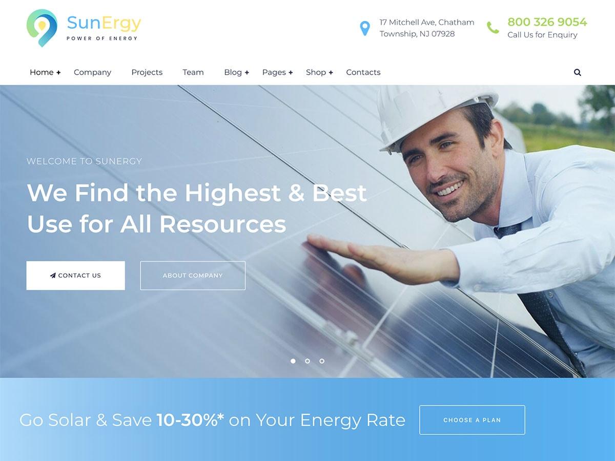 Sunergy – Green and Ecology Solar Energy