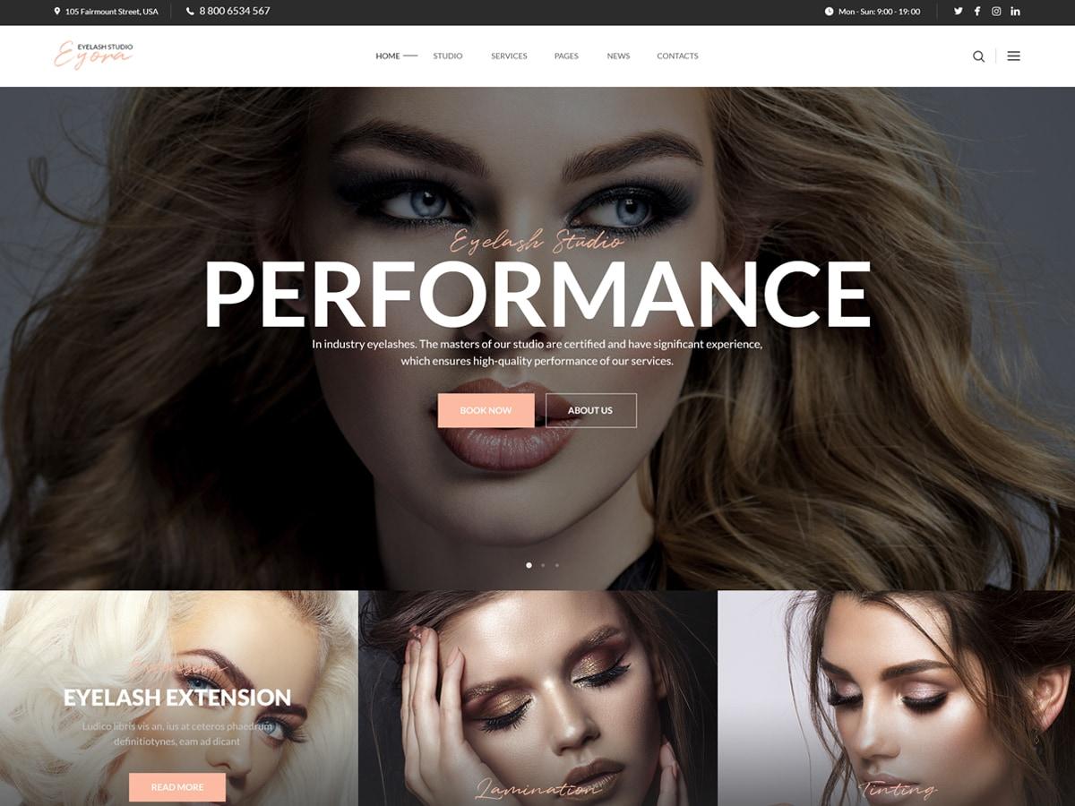 Eyora – Eyelash Extension & Lash Lift WordPress Theme